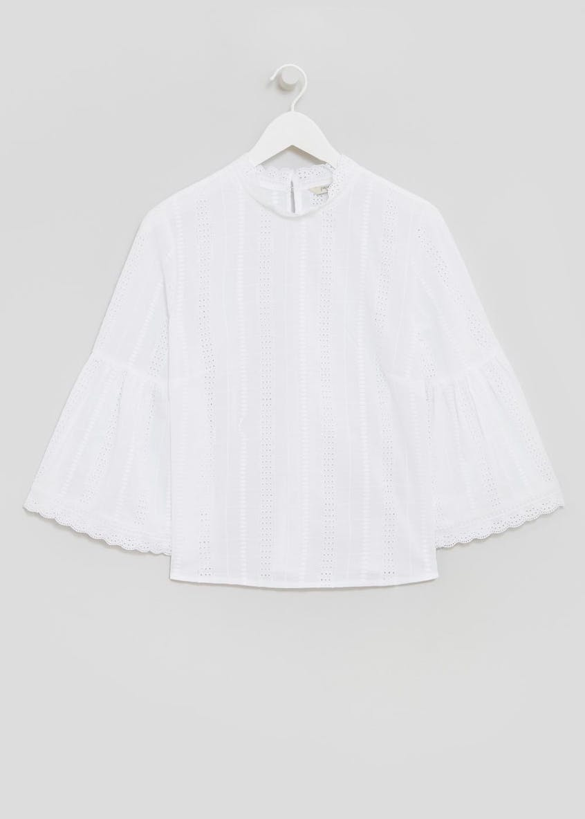 Schiffley Fluted Sleeve Blouse
