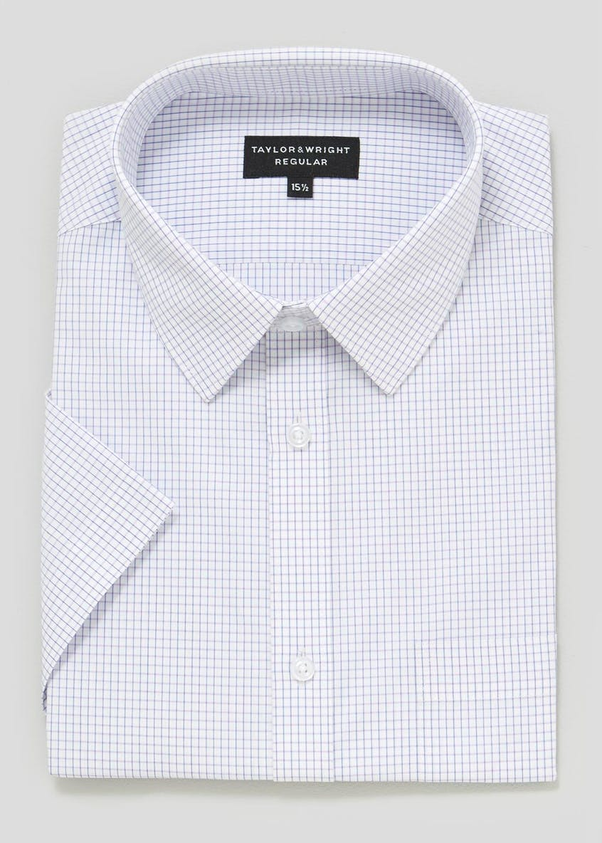 Regular Fit Short Sleeve Check Shirt