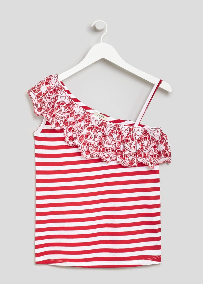 Stripe Schiffley One Shoulder Top