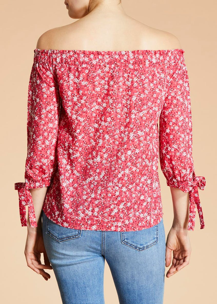 Falmer Floral Embroidered Bardot Blouse