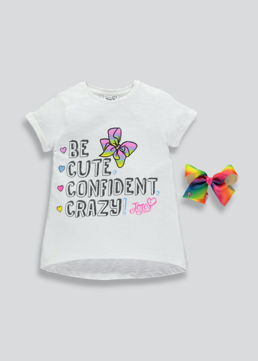 Kids JoJo Siwa T-Shirt & Bow (4-11yrs)
