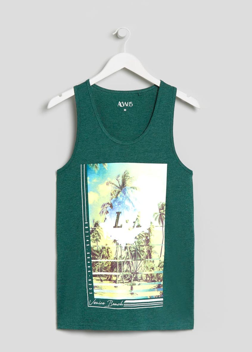 Big & Tall LA Palm Tree Graphic Vest