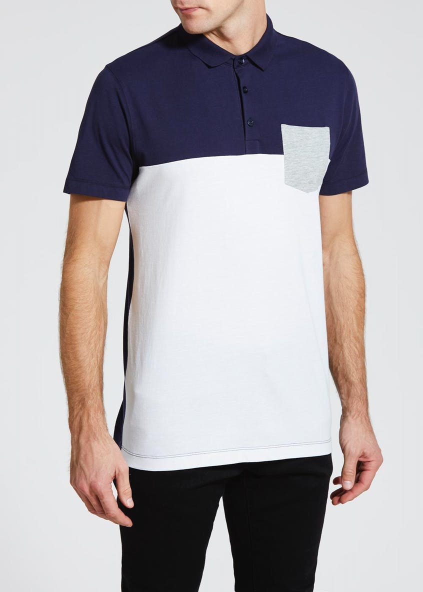 Cut & Sew Pocket Polo Shirt