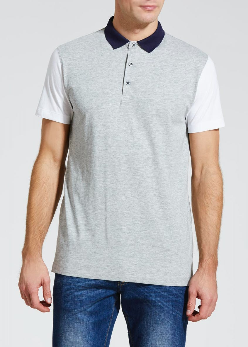 Contrast Sleeve Smart Polo Shirt