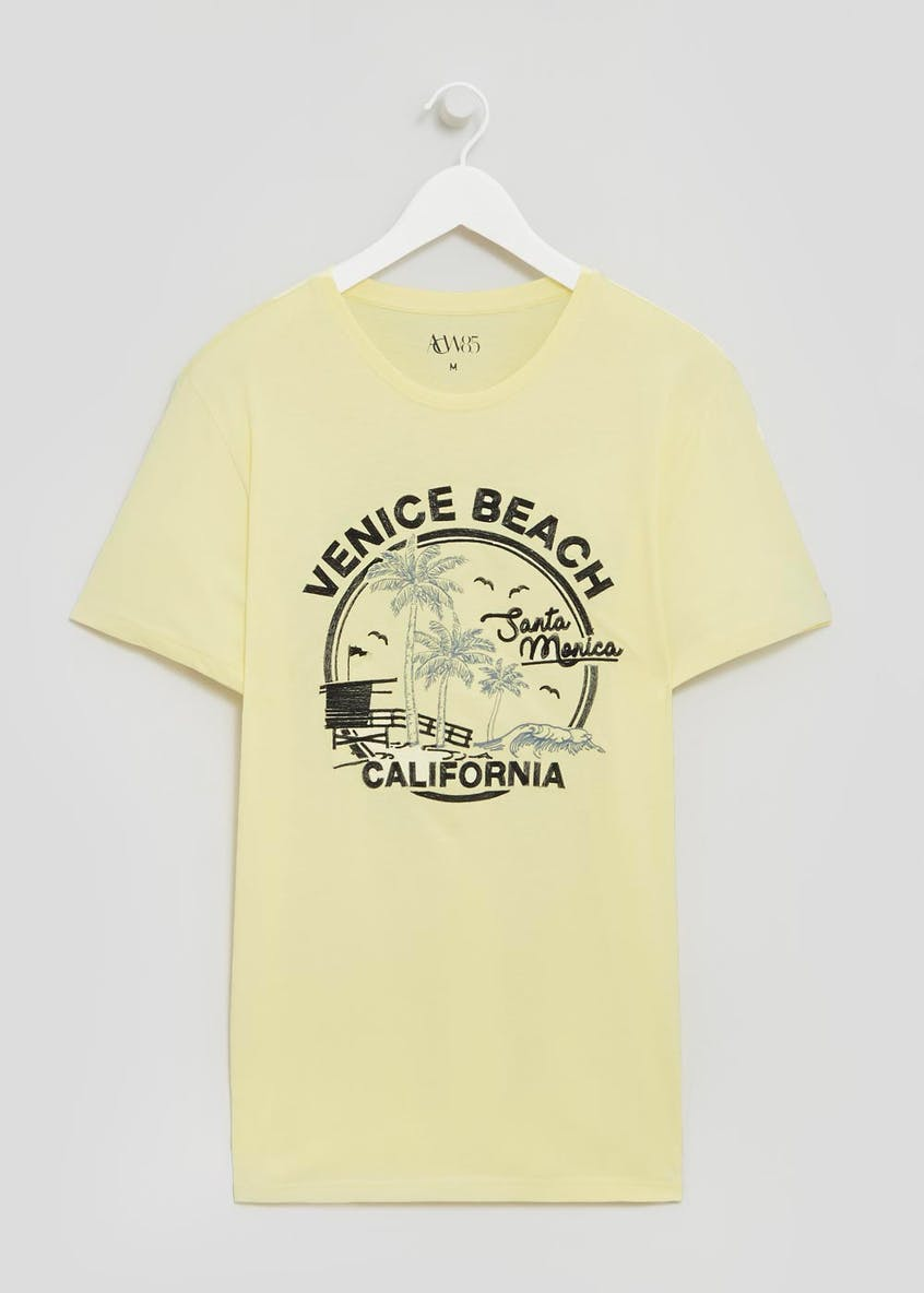 Santa Monica Embroidered Logo T-Shirt