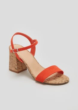 Cork Block Heel Sandals