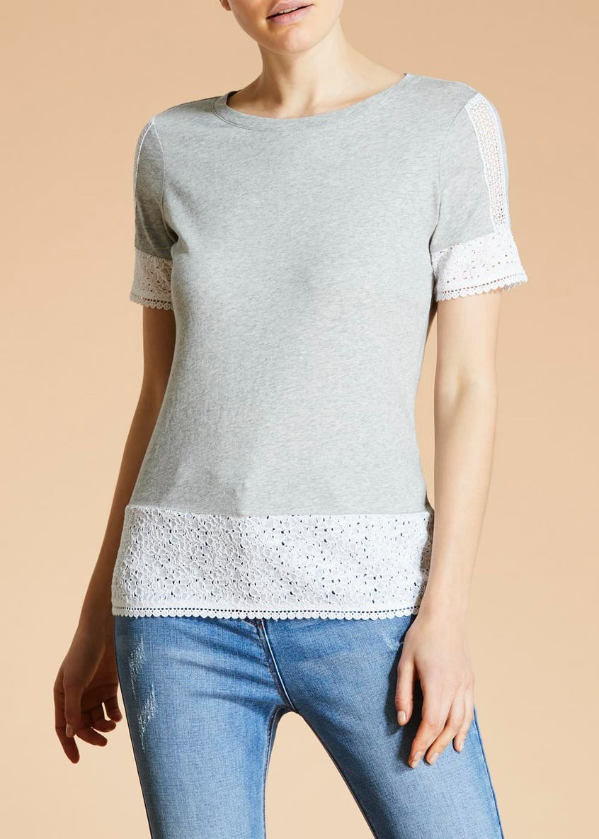 Falmer Lace Trim T-Shirt