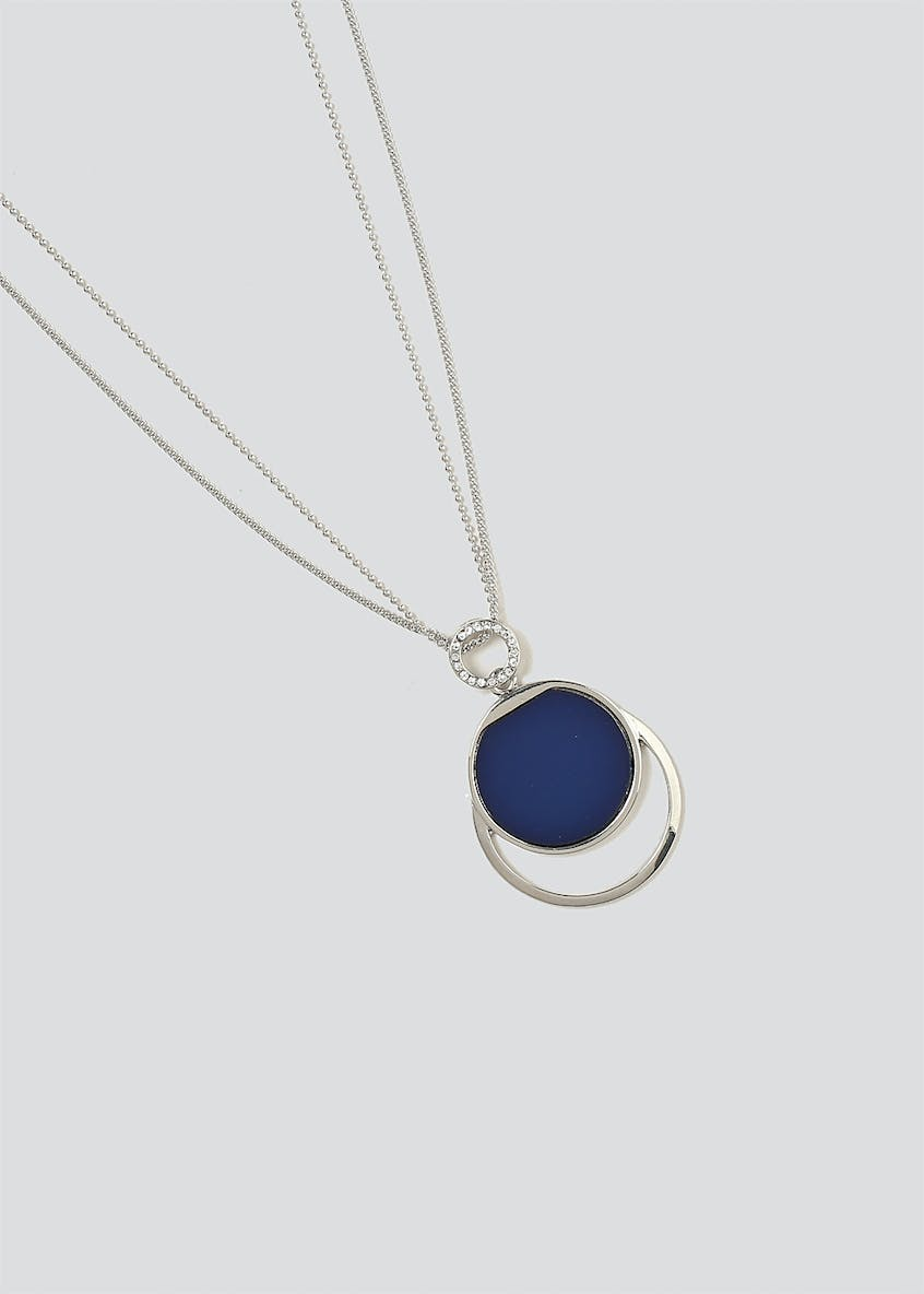 Oval Sparkle Pendant Necklace