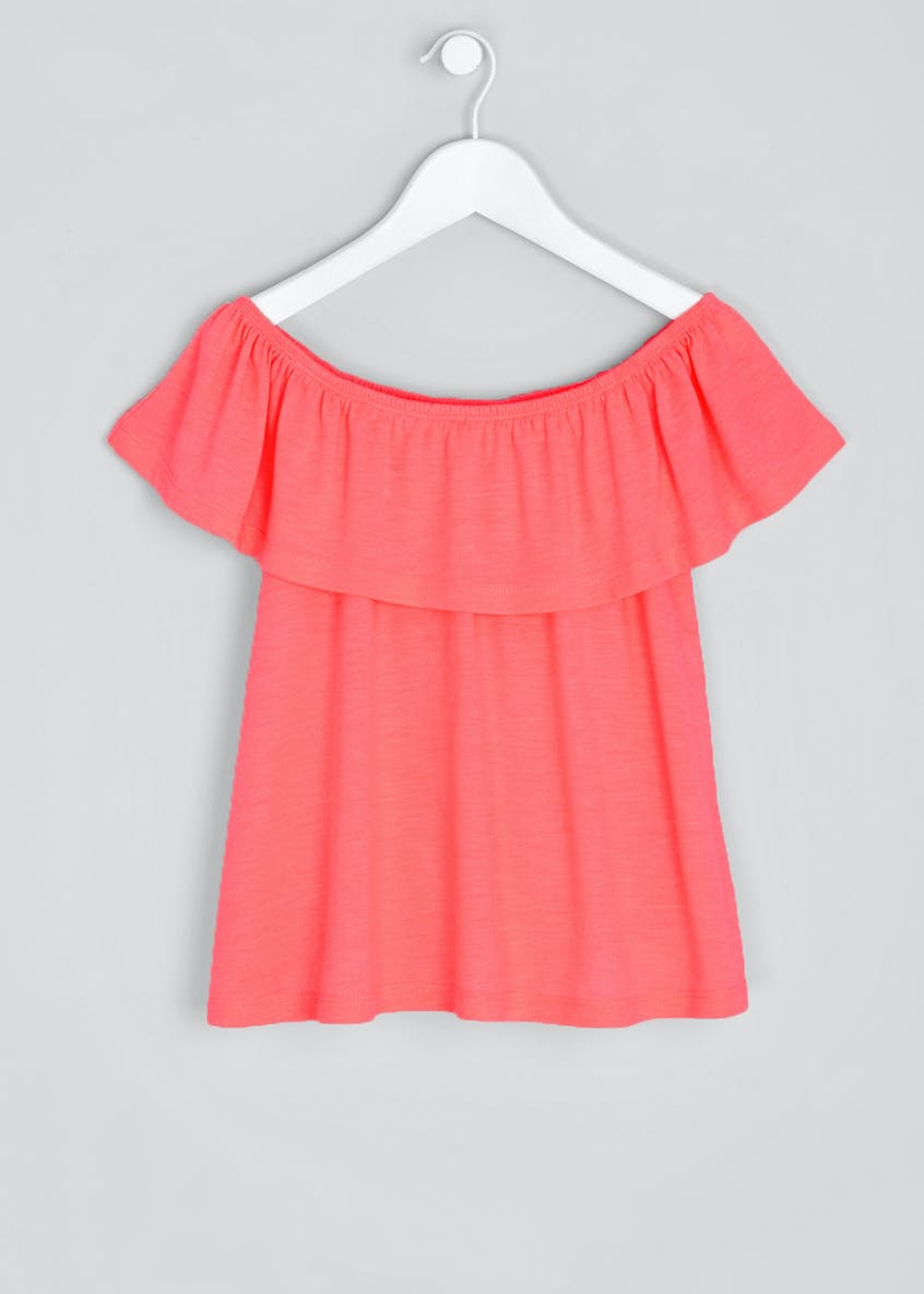 Girls Candy Couture Jersey Bardot Top (9-16yrs)