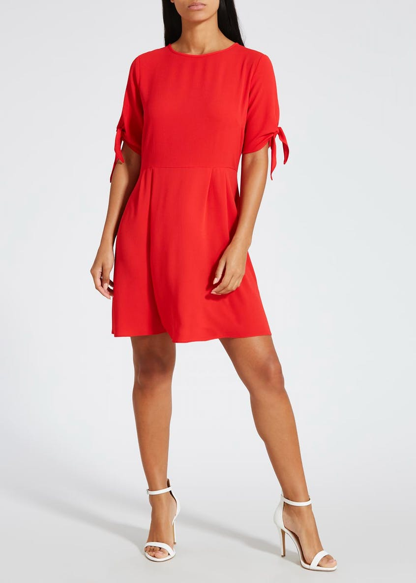 Tie Sleeve Tea Dress