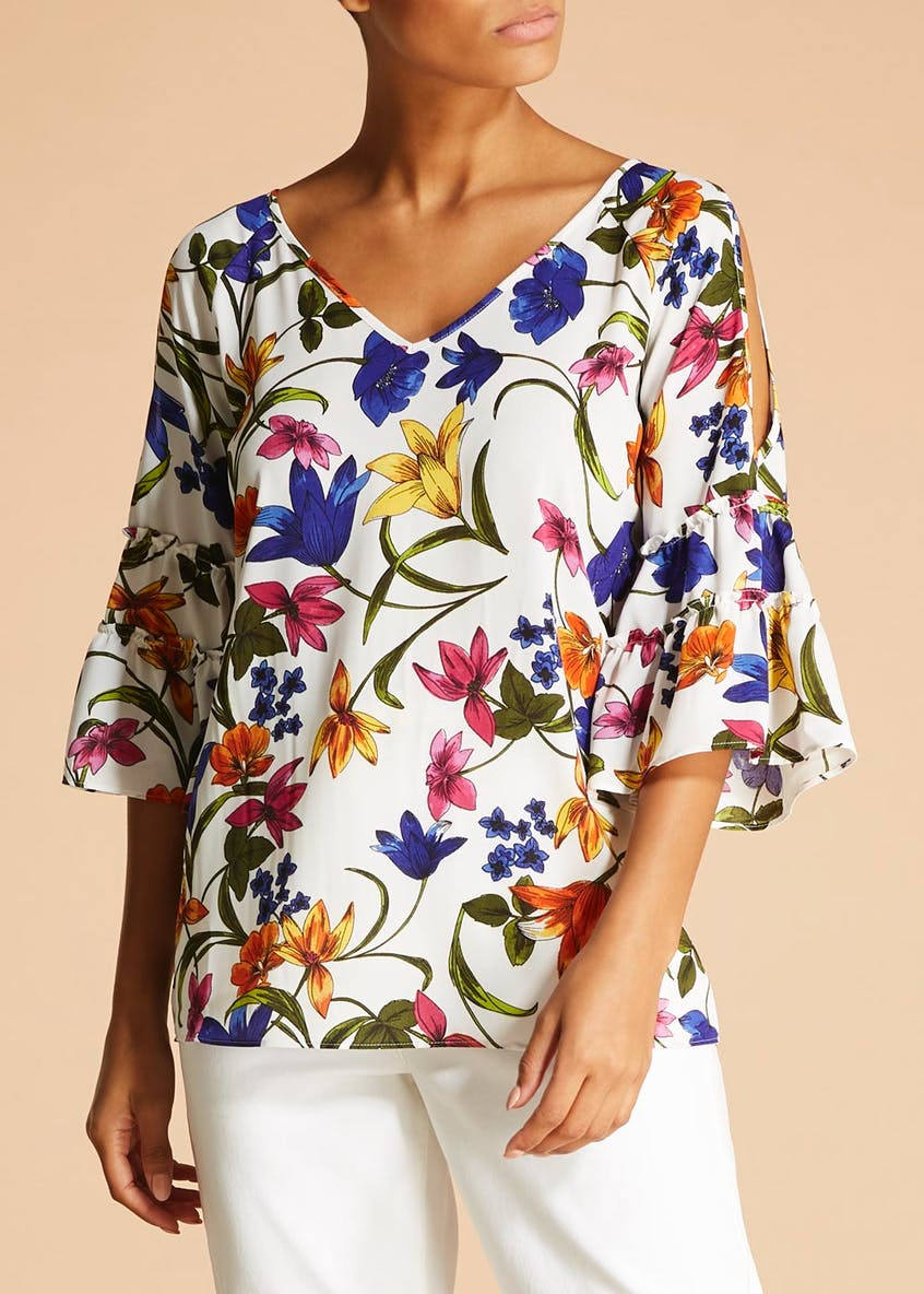 Soon St Lucia Floral Bell Sleeve Box Top