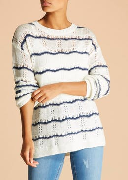 Falmer Stripe Pointelle Jumper