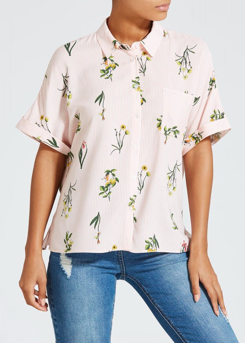 Floral Shirt Box Top