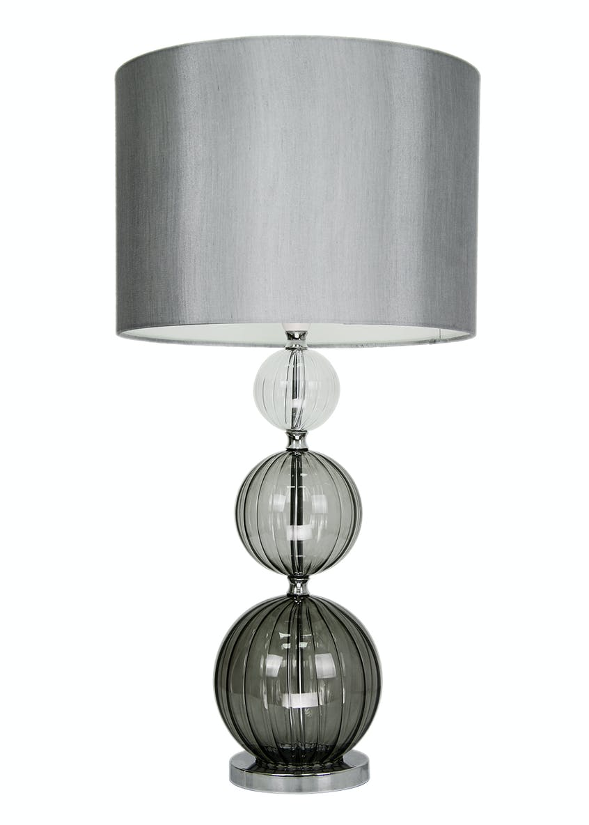 Florence Glass Table Lamp (H64cm x W33cm)
