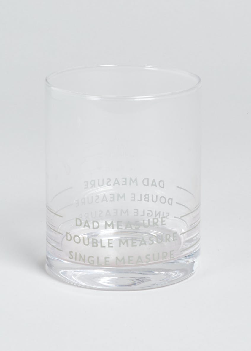 Dad Slogan Spirit Glass (10cm x 8cm)