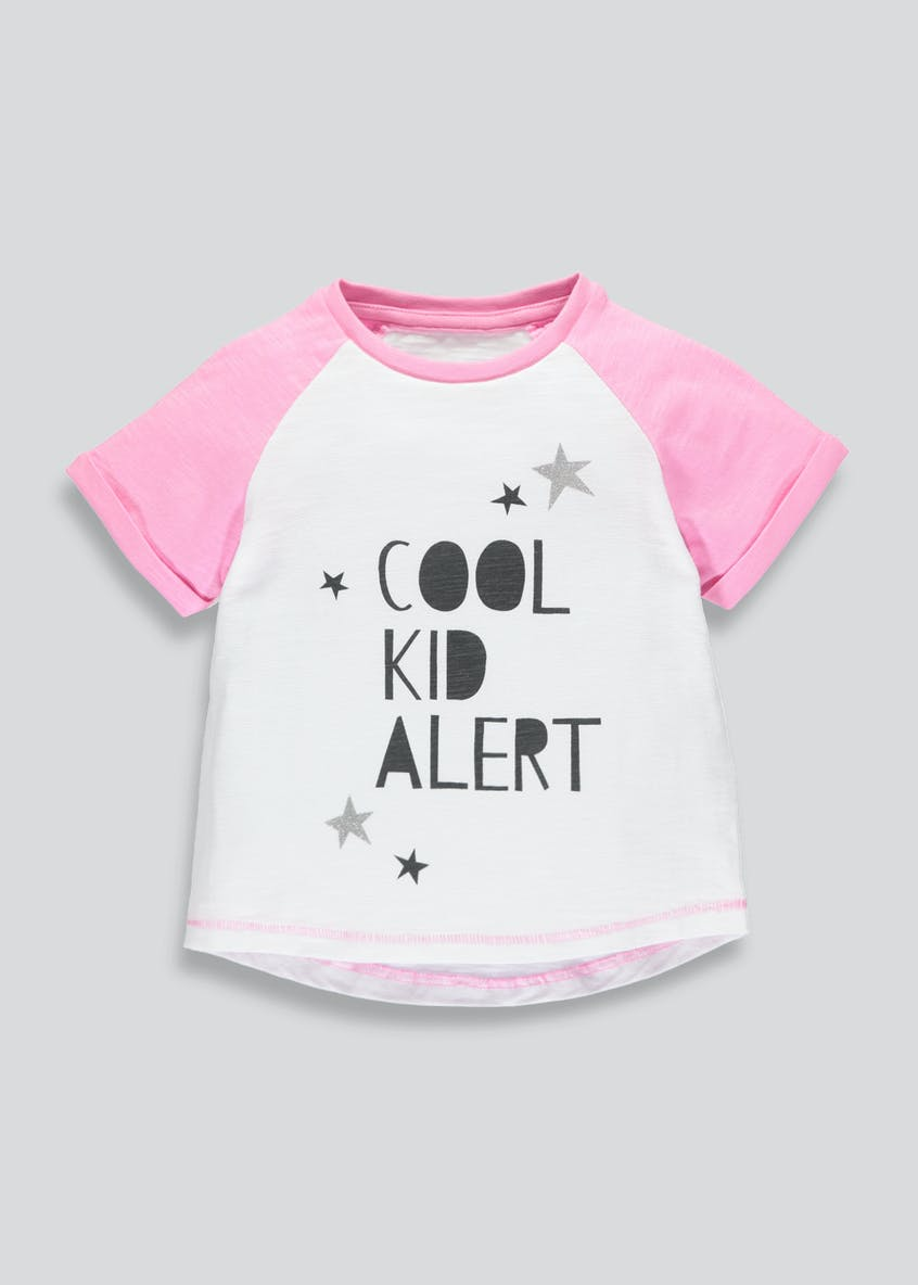 Girls Cool Kid Slogan T-Shirt (3mths-6yrs)