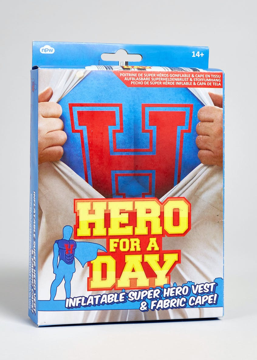 Superhero Inflatable Vest & Cape