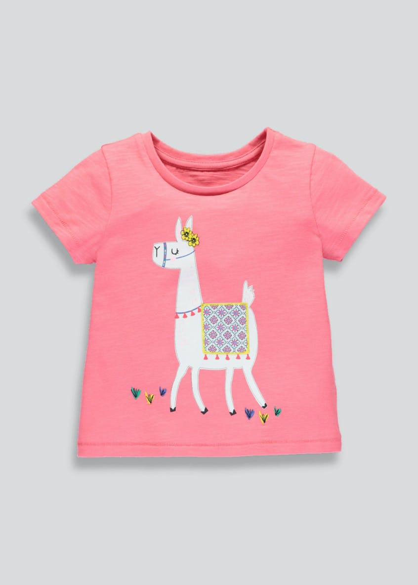 Girls Llama Print T-Shirt (3mths-6yrs)