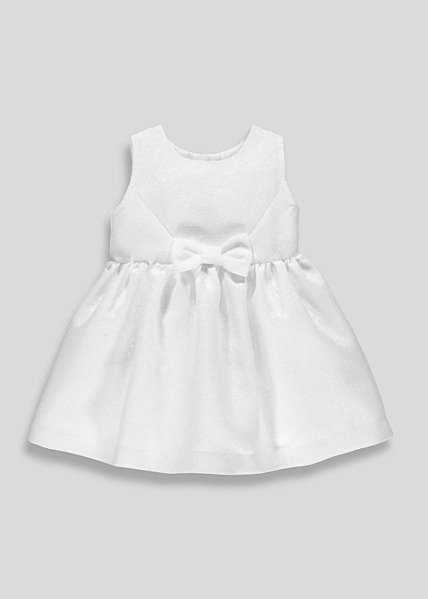 Girls Jacquard Occasion Prom Dress (3mths-6yrs)