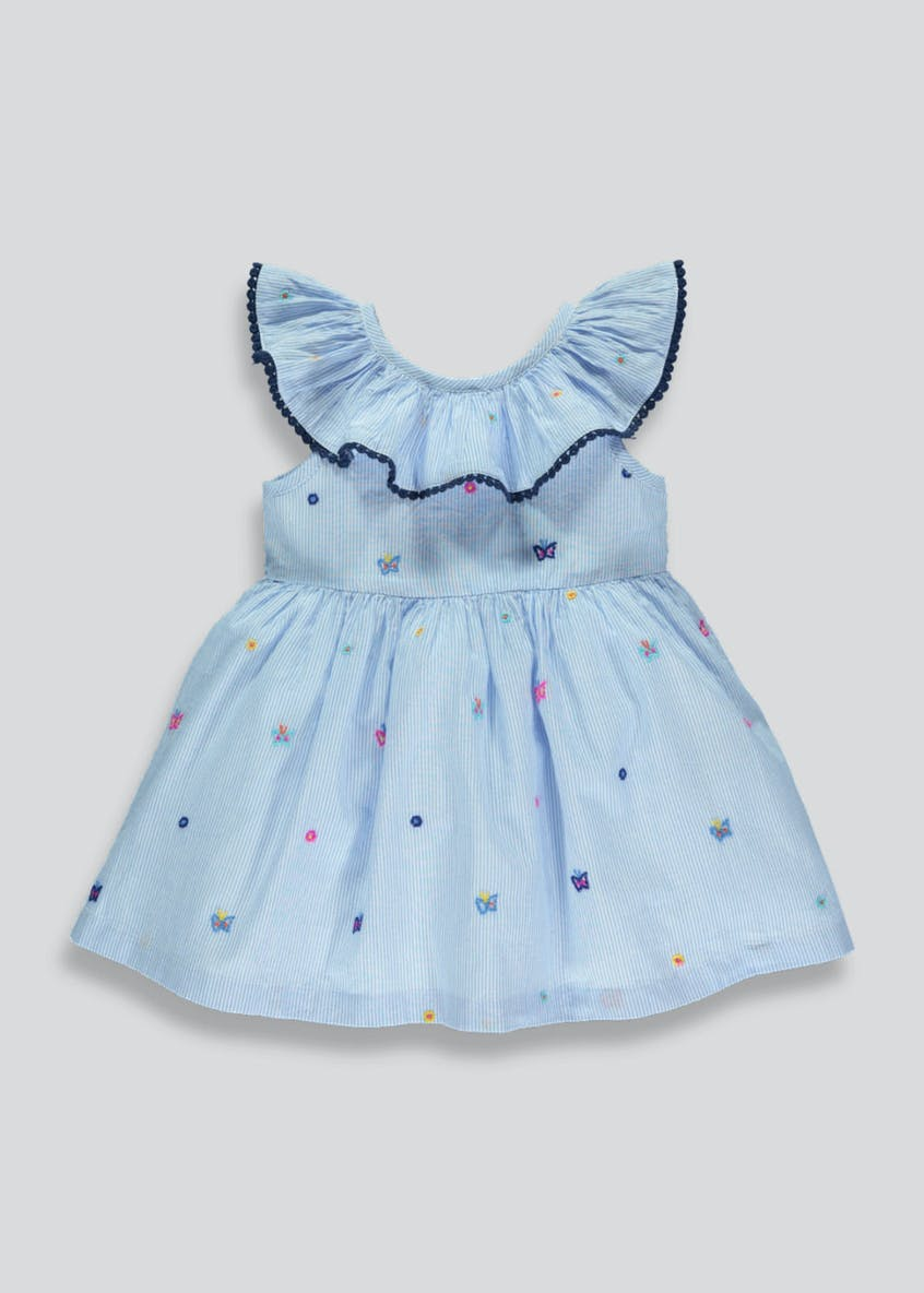Girls Embroidered Butterfly Dress (3mths-6yrs)