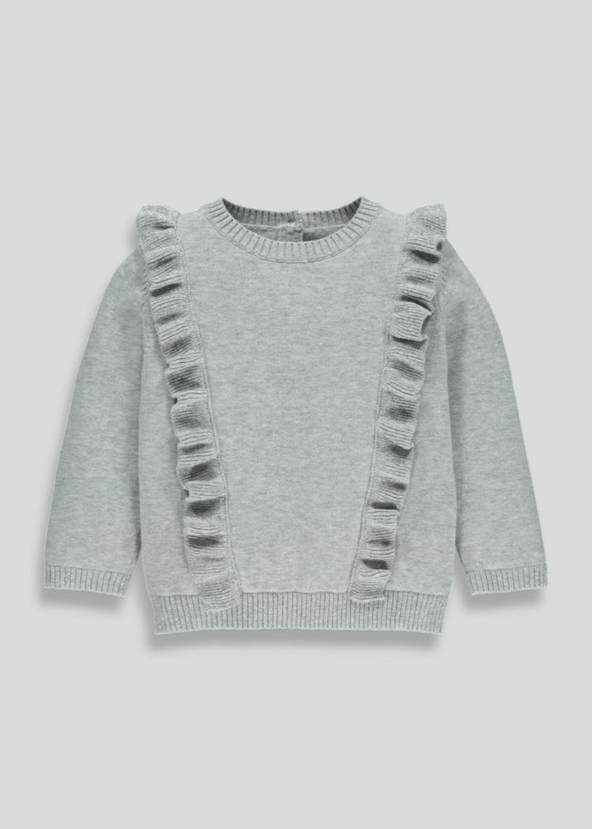 Girls Lurex Frill Jumper (3mths-6yrs)