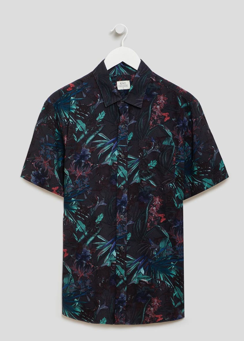 Butterfly Print Short Sleeve Shirt