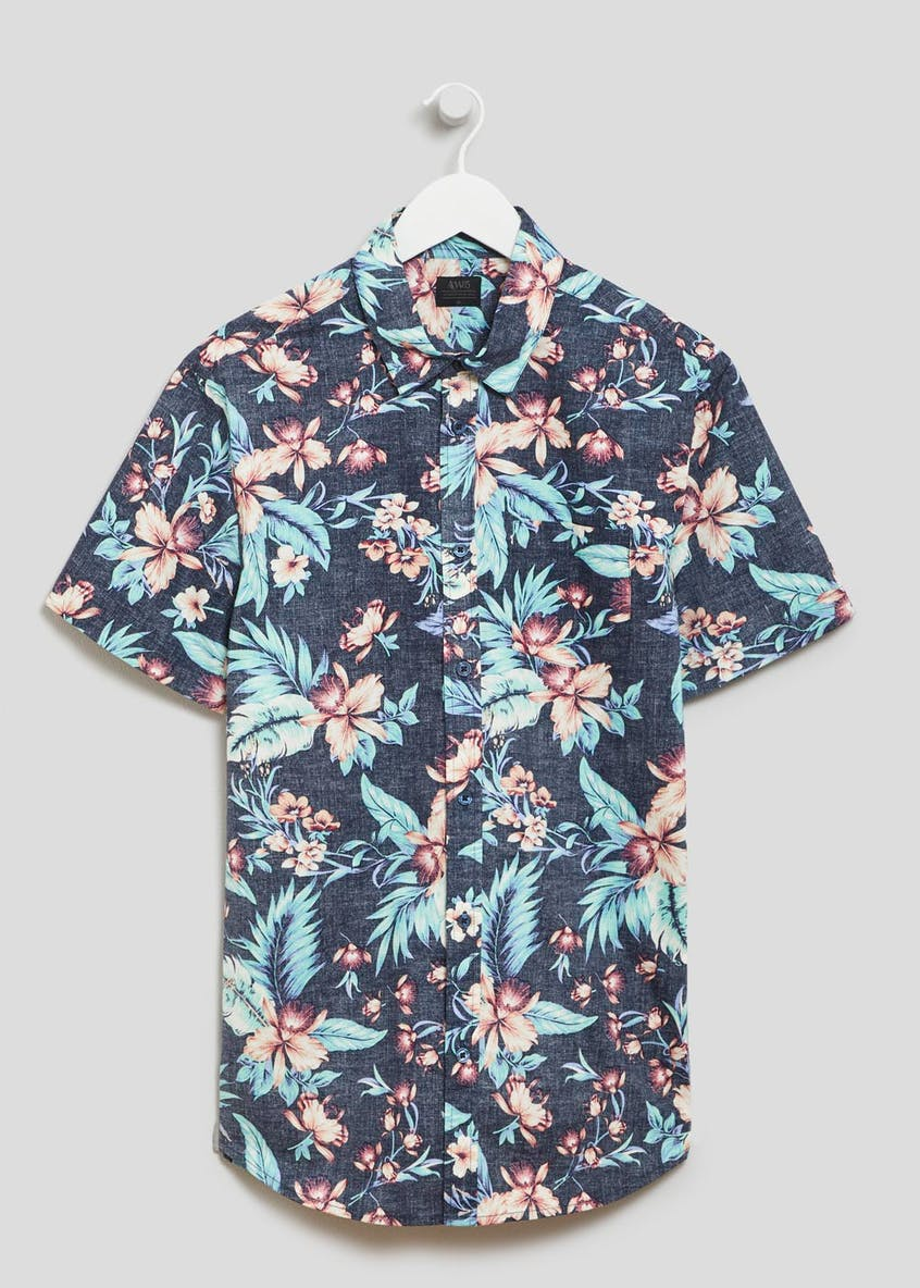 Reverse Floral Short Sleeve Shirt