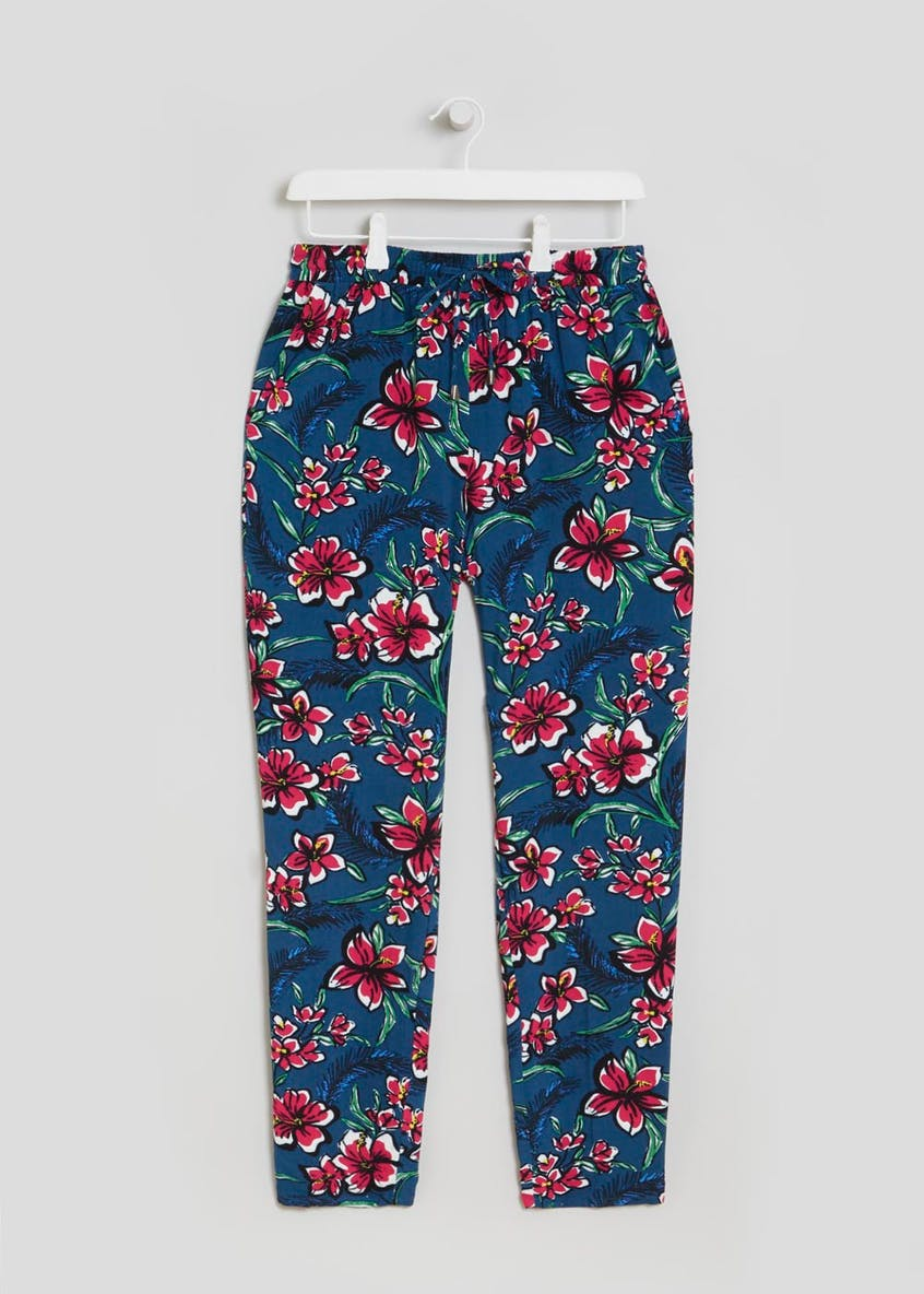 Floral Tapered Trousers