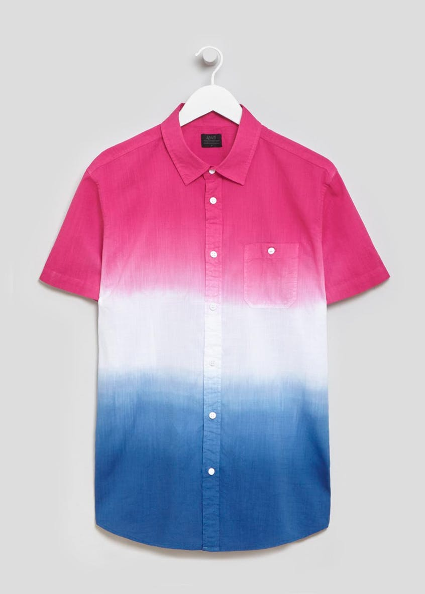 Bright Dip Dye Short Sleeve Shirt