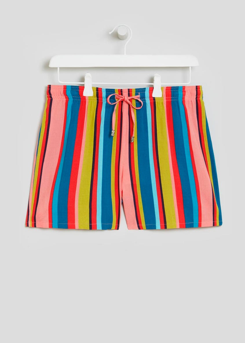 Stripe Viscose Shorts