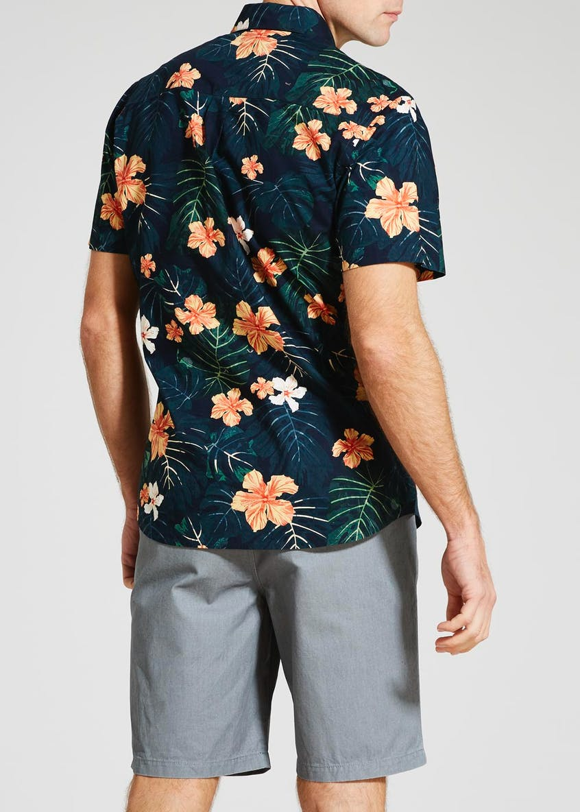 Hawaiian Floral Short Sleeve Shirt