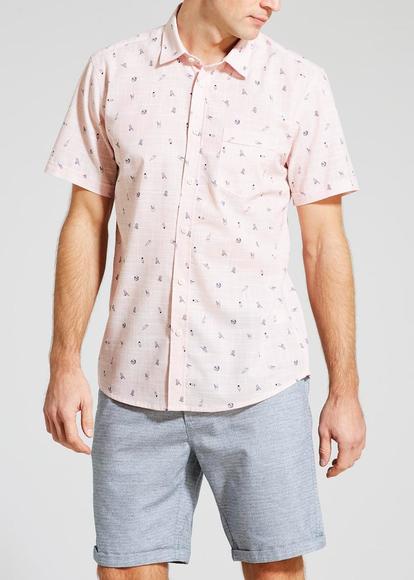 Ice Lolly Print Short Sleeve Shirt