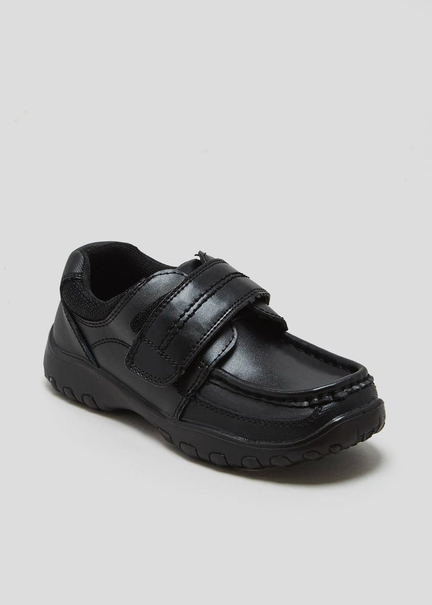 Boys Coated Leather School Shoes (Younger 8-Older 6)