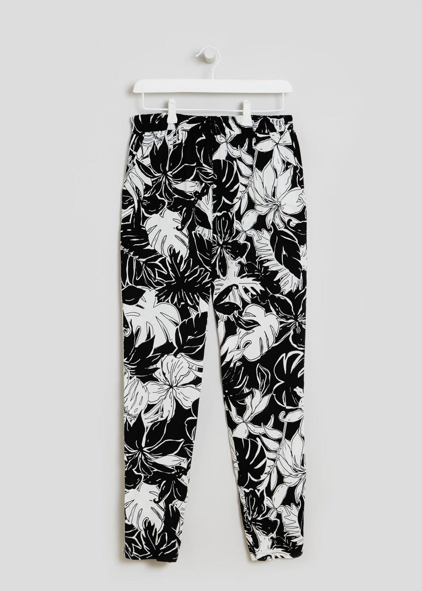 Floral Side Stripe Trousers