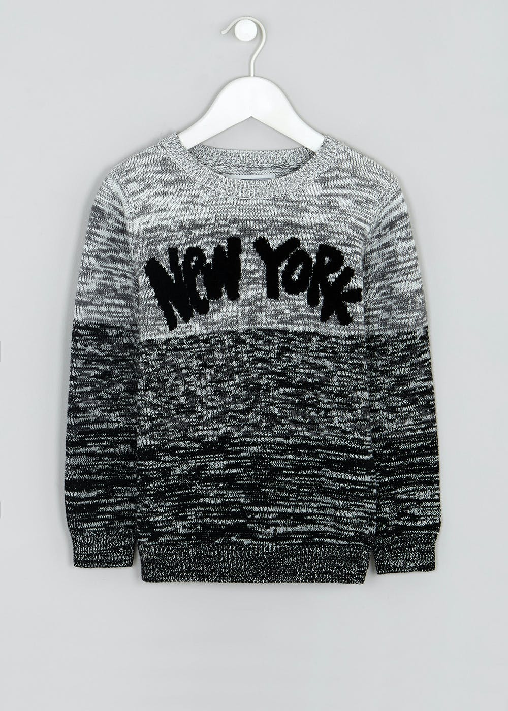 2d2892378 Boys New York Ombre Knitted Jumper (4-13yrs) – Grey – Matalan