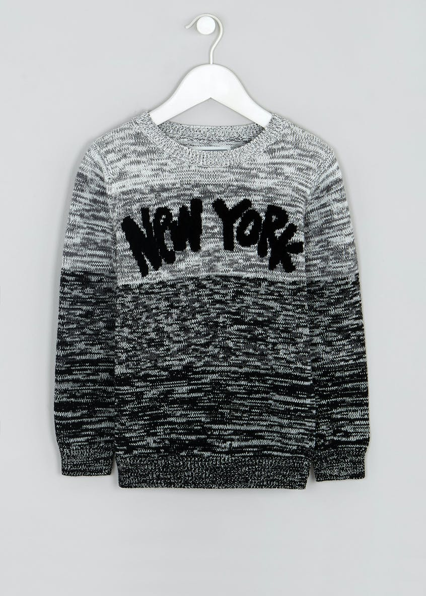 Boys New York Ombre Knitted Jumper (4-13yrs)
