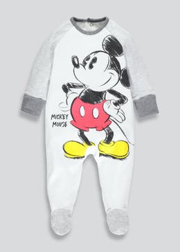 Unisex Disney Mickey Mouse Sleepsuit (Newborn-12mths)