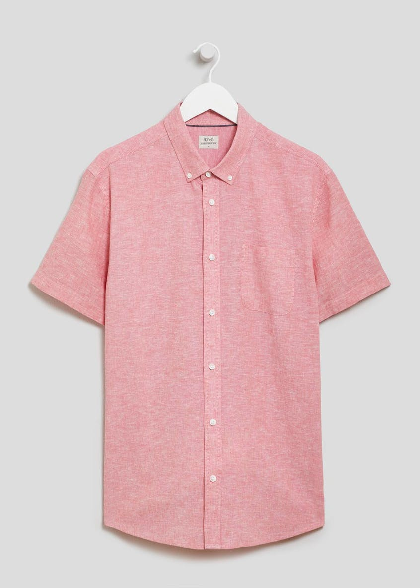 Big & Tall Short Sleeve Linen Shirt