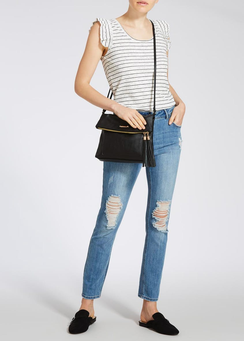 PU Tassel Cross-Body Bag