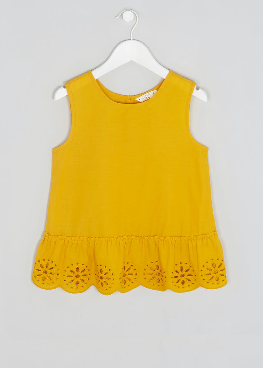 Girls Candy Couture Broderie Cami Top (9-16yrs)