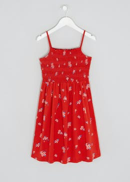Girls Candy Couture Floral Shirred Jersey Dress (9-16yrs)