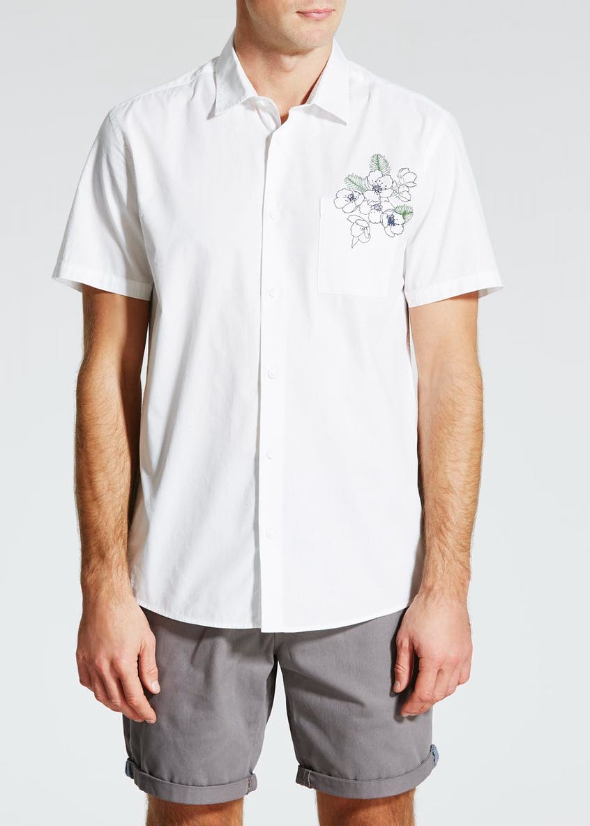 Floral Pocket Short Sleeve Shirt