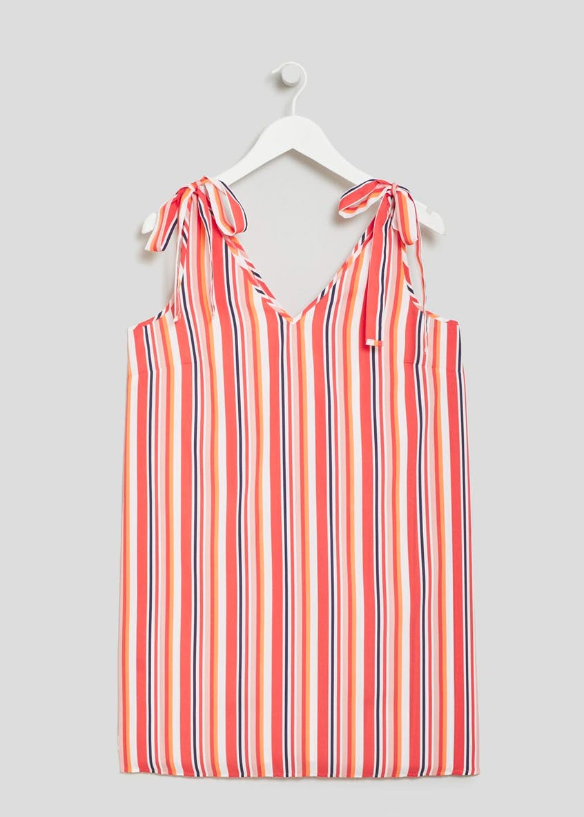 Striped Tie Sleeve Dress