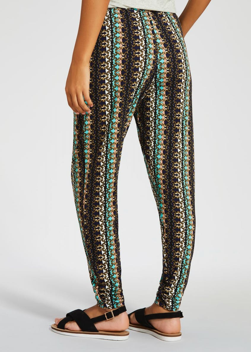 Chain Print Harem Trousers