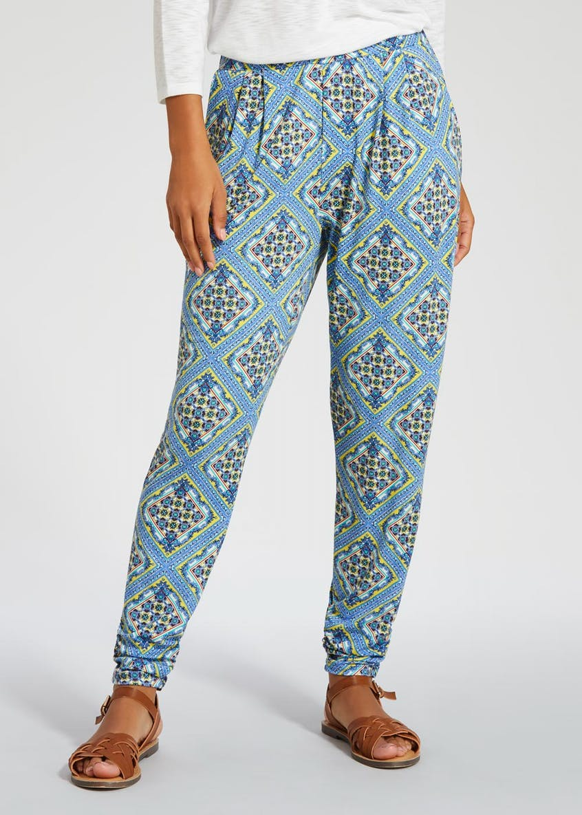 Scarf Print Harem Trousers