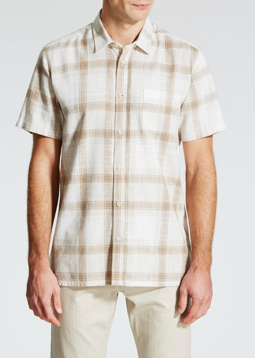 Short Sleeve Slub Check Shirt