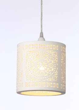 Grace Cut Out Ceramic Easy Fit Lamp Shade (H19cm x W15cm)