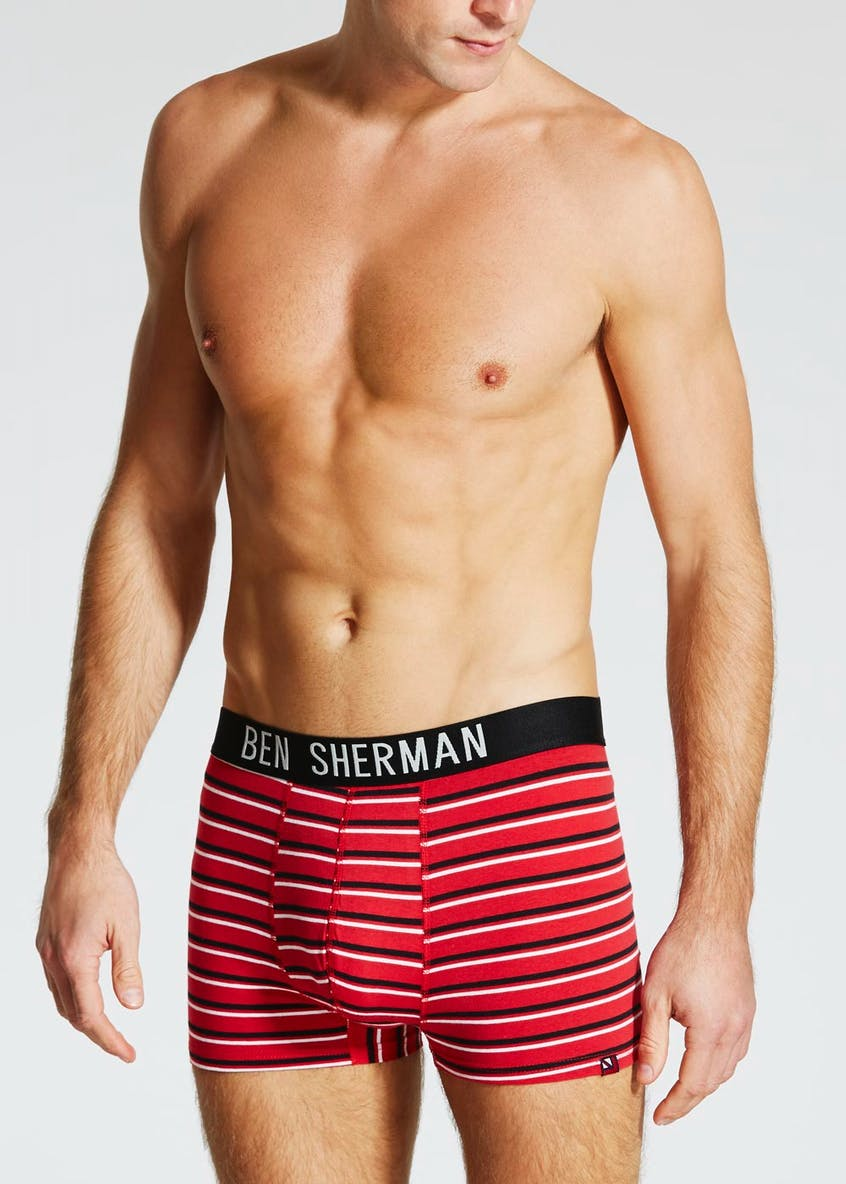 3 Pack Ben Sherman Stripe Trunks