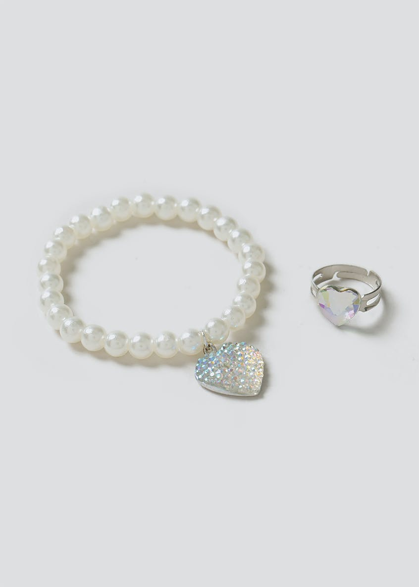 Heart Ring And Wristwear Set