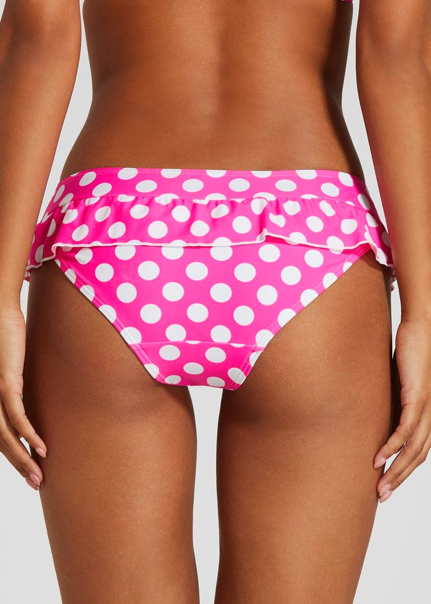 Frill Polka Dot Skirted Bikini Bottoms